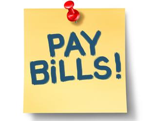 Pay Bills sticky note